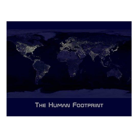 The Human Footprint Postcard