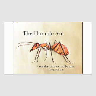 The Humble Ant Rectangular Sticker