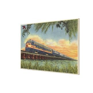 The Humming Bird Railroad Train Canvas Print