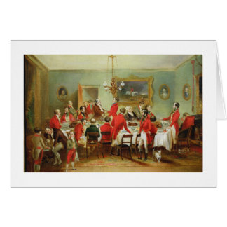 The Hunt Breakfast, Bachelor's Hall, 1836 (oil on Card