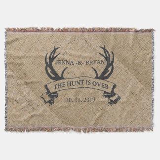 """The Hunt is Over"" Rustic Custom Wedding Gift"