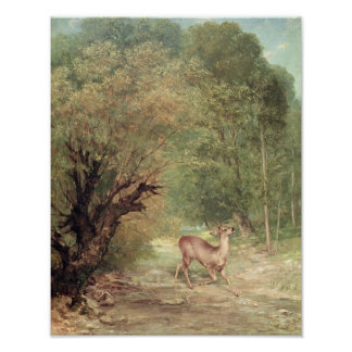The Hunted Roe-Deer on the alert, Spring, 1867 Poster