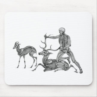 The Hunted - Skeleton Antelope and Stag Mouse Pad