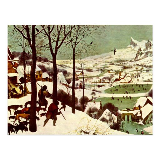 The Hunters in the Snow - 1565 Postcard