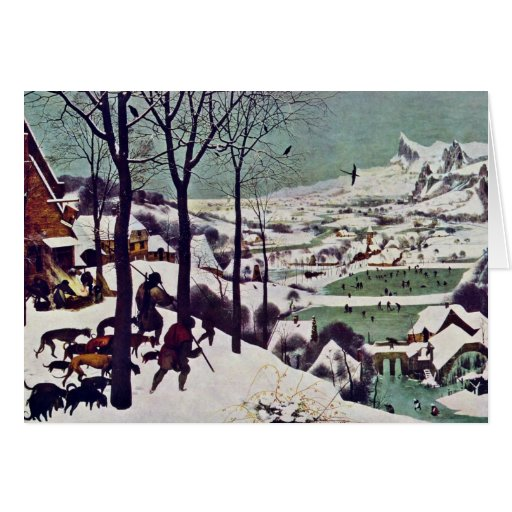 The Hunters In The Snow,  By Bruegel D. Ä. Pieter Cards