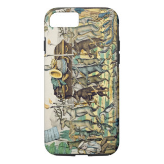 The Hunter's Procession, c.1850 (hand coloured lit iPhone 8/7 Case