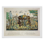 The Hunter's Procession, c.1850 (hand coloured lit Poster