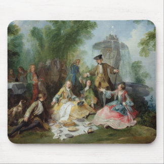 The Hunting Party Meal, c. 1737 Mouse Mat