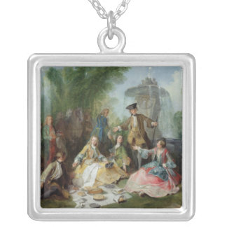 The Hunting Party Meal, c. 1737 Silver Plated Necklace