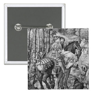 The Hunts of Maximilian, Leo, The Stag Hunt 15 Cm Square Badge