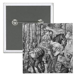 The Hunts of Maximilian, Leo, The Stag Hunt 15 Cm Square Badge