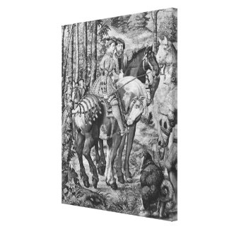 The Hunts of Maximilian, Leo, The Stag Hunt Canvas Print