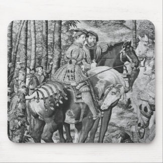 The Hunts of Maximilian, Leo, The Stag Hunt Mouse Pad