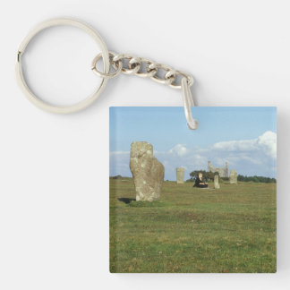 The Hurlers on Bodmin Moor, Cornwall souvenir Key Ring