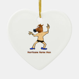 The Hurricane Horse Man Ceramic Heart Decoration