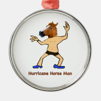 The Hurricane Horse Man Silver-Colored Round Decoration