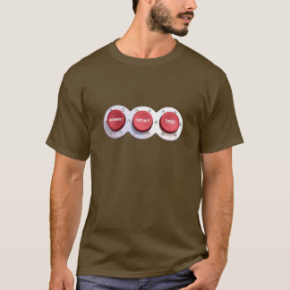 the HUSBAND FATHER TAXI buttons T-Shirt
