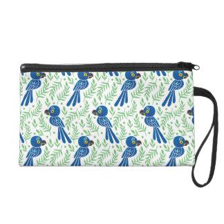The Hyacinth Macaw Pattern Wristlet Clutch