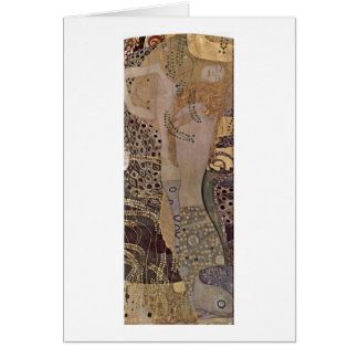 The Hydra By Gustav Klimt Card