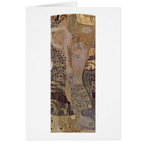 The Hydra By Gustav Klimt Greeting Card