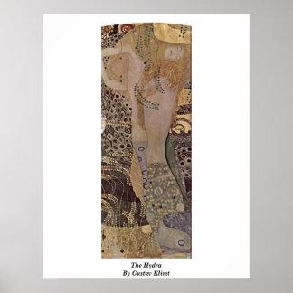 The Hydra By Gustav Klimt Poster
