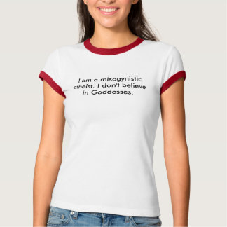 The hyphenated atheist t shirt