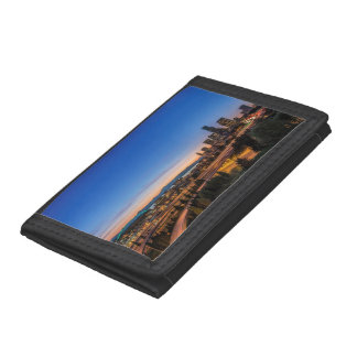 The I-5 freeway and downtown Seattle at twilight Tri-fold Wallets