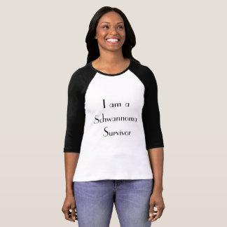 The I am a Schwannoma Survivor White n Black T T-Shirt
