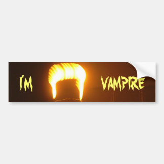 The I am a Vampire Bumper Sticker