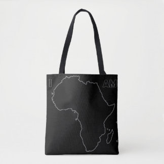 """The """"I Am Africa"""" All Black Everything Tote Tote Bag"""