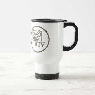 """The """"I build robots"""" badge (LEVEL IV) 15 Oz Stainless Steel Travel Mug"""