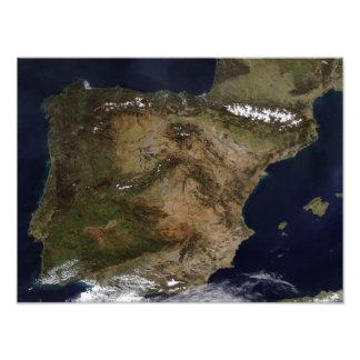 The Iberian Peninsula Photo Print