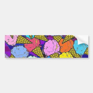 The ice cream cones. bumper sticker