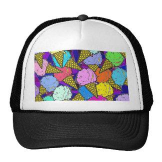 The ice cream cones. trucker hats