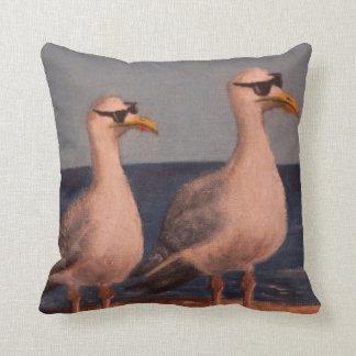 The Ice Cream Police, Seagull print -Pillow Cushion