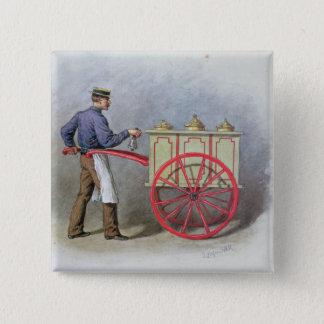The Ice Cream Seller, 1895 15 Cm Square Badge