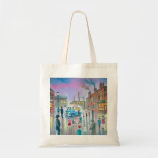 The Ice Cream Van oil painting Budget Tote Bag