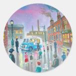 The Ice Cream Van oil painting Round Sticker