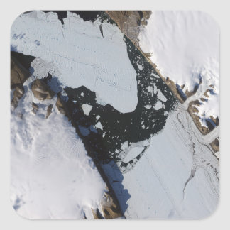 The ice island square sticker