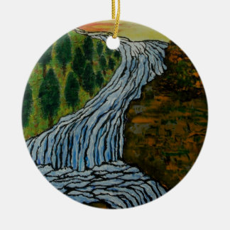 The Icebound Waterfall Christmas Ornament