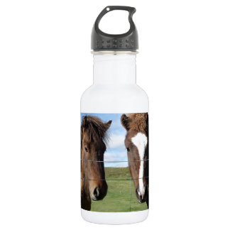 The Icelandic Horse - A Real Friend 532 Ml Water Bottle