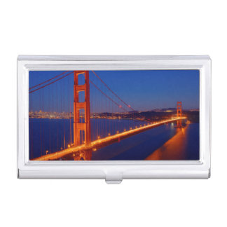 The iconic bridge with San Francisco Business Card Holder