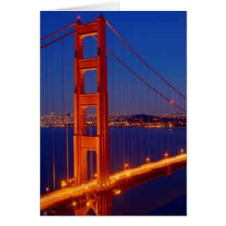 The iconic bridge with San Francisco Card