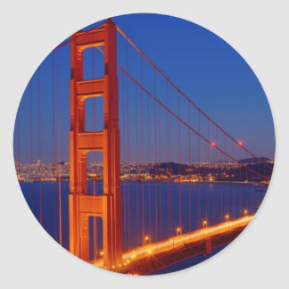 The iconic bridge with San Francisco Classic Round Sticker