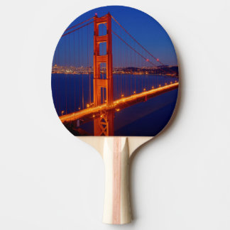 The iconic bridge with San Francisco Ping Pong Paddle