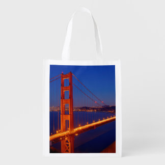 The iconic bridge with San Francisco Reusable Grocery Bag