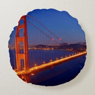 The iconic bridge with San Francisco Round Cushion