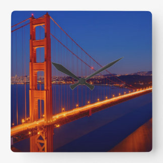 The iconic bridge with San Francisco Square Wall Clock