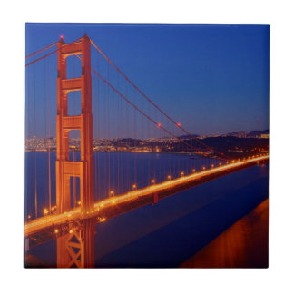 The iconic bridge with San Francisco Tile