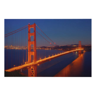 The iconic bridge with San Francisco Wood Wall Decor